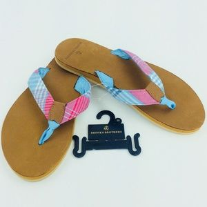 Brooks Brothers Shoes - Madras Men's Brooks Brothers Flip Flops 10M NEW